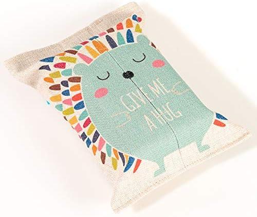 ROKTONG Caja De Pañuelos para Caja De Tejido De Estuche Pequeño De Algodón Y Lino Tejido Tejido Sala De Estar Bolsa De Papel Toalla Bolsa De Bombeo Papel Tela, J: Amazon.es: Hogar