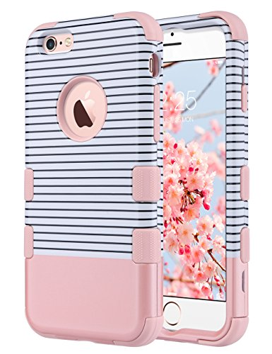 (ULAK iPhone 6S Case for Girls,iPhone 6 Case, Hybrid Soft Silicone Hard PC Case Anti Slip Heavy Duty High Impact Dust Scratch Shock Resistance Protective Cover for iPhone 6/6S 4.7
