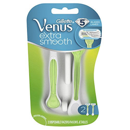 Gillette Venus Extra Smooth Green Disposable Women's Razors - 2 Count