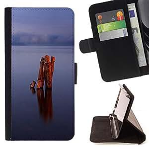 BullDog Case - FOR/Sony Xperia Z2 D6502 / - / Calm lake /- Monedero de cuero de la PU Llevar cubierta de la caja con el ID Credit Card Slots Flip funda de cuer