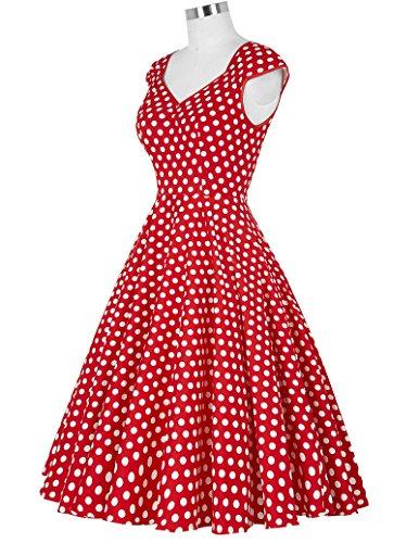Swing Dress GRACE Floral Print Dresses 50's Women Cocktail Red KARIN CL7600 qq10wp