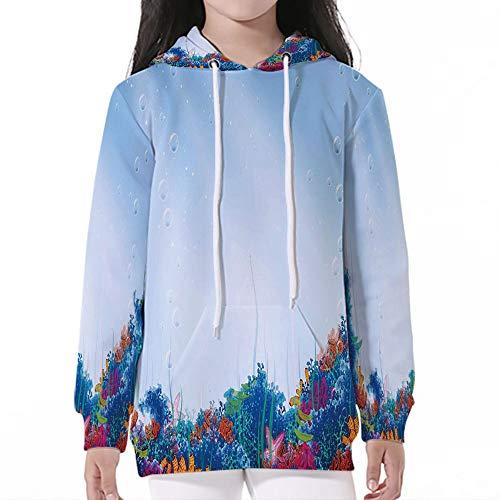 Sleeve Hooded Sweatshirts,Underwater,Marine Coral Reef Aquatic Scene Starfish Oc (The Oc Best Scenes)