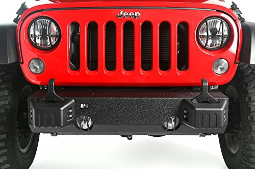 Rugged Ridge 11540.28 XHD Front Bumper Base with Tow Point - Cover Tire Rugged Ridge