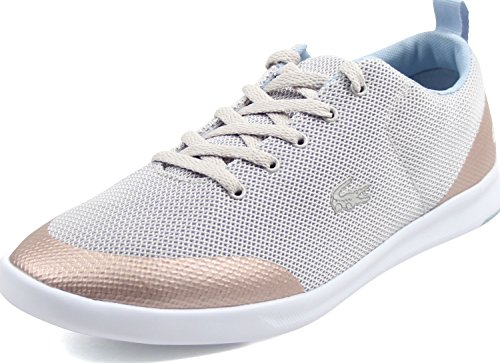 Lacoste Women's Avenir 317 2 SPW Fashion Sneaker, Grey, 6.5 M US (Dress Shoes Lacoste)
