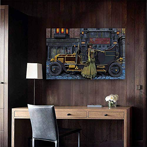 - Gabriesl Art Decor 3D Wall Mural Wallpaper Stickers Victorian Vintage Victorian Lady Corridor Walkway Wall Size : W48 x H32