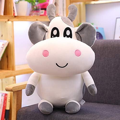qunxun Pippi muñeca de Vaca de Peluche de Juguete para niños Almohada reconfortante para Dormir 30 cm (0,25 kg) Gris