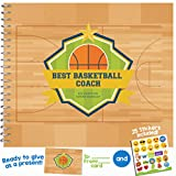 BASKETBALL GIFTS - Recognition Award Booklet for Being the 'Best Basketball Coach' | Includes Certificate, Quotes, Frames, Stickers & Card |Personalized Gift Ideas for Players, Sport Fans and Coaches!