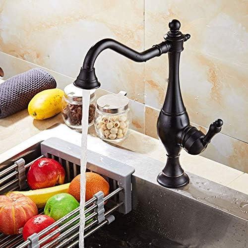 SYF-SYF 流域の蛇口浴室タップヨーロッパの銅のキッチン蛇口シンクシンクレトロ蛇口つや消しブラック蛇口浴室用タップ 蛇口