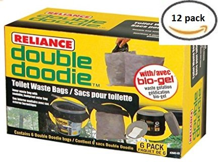 (Reliance Products Double Doodie Toilet Bag 12 pack)