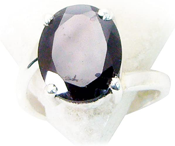 Natural Garnet Sterling Silver Ring For Men January Birthstone Oval Bezel Style Size 4,5,6,7,8,9,10,11,12