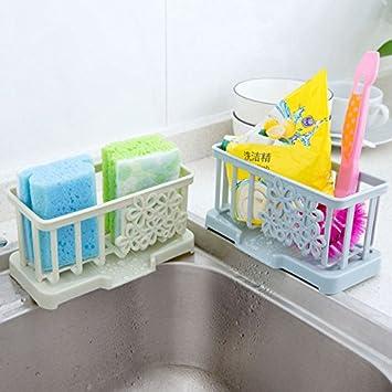 amazzang-kitchen esponja accesorio de secado escurridor para cubiertos de  lavado organizador plástico rosa  Amazon.es  Hogar ba44f8402754