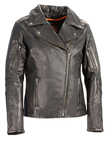 Women's Lightweight Long Length Beltless Vented Biker Jacket
