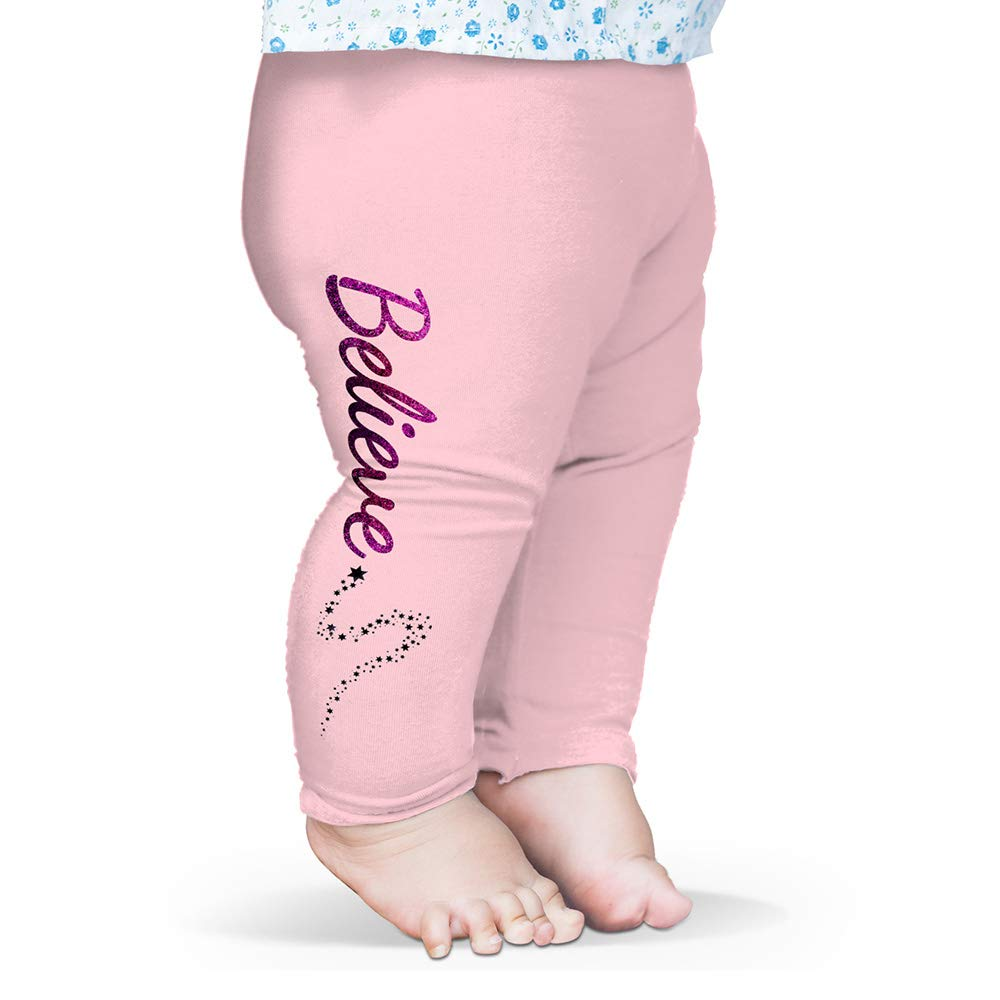 Twisted Envy Baby Pants Believe Stardust Baby and Toddler Girls Leggings