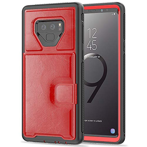Galaxy Note 9 Wallet Case, ZERMU Durable Premium PU Leather Shockproof Leather Back Cover Flip Wallet Protective Defender with Card Slot [Compatible with Magnetic car Mount] for Samsung Galaxy Note 9 (Case Samsung Paris 2 Note)