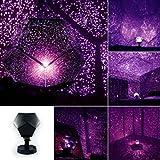 Staron Celestial Stars Light Cosmos Night Lamp Romantic Maker Fashion Night Lights Projection Projector Starry Sky (Purpel)