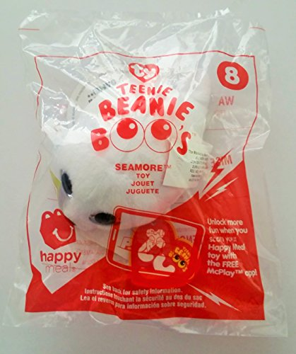 McDonald's Teenie Beanies Boo's 2017 # 8 Seamore White Seal TY Happy Meal Toy