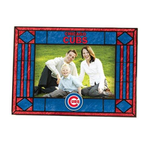 Chicago Cubs Art Glass Horizontal Frame