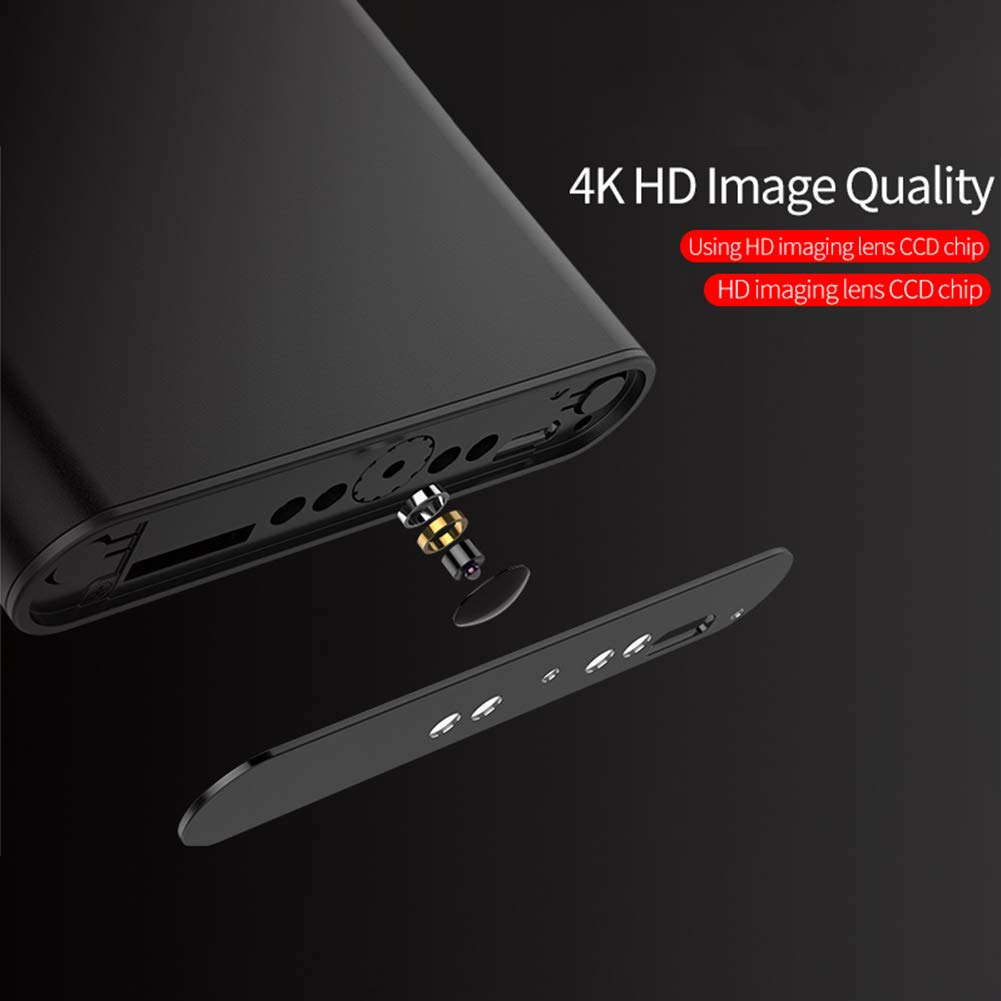 DishyKooker HD 4K 10000mAh WiFi Power Bank Camera Wireless Motion Detection Night Vision Security Camera Nanny Cam Home and Office