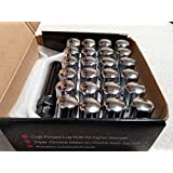 AccuWheel LNS-14150C6 Small Diameter Acorn Spline Drive Chrome Lug Nuts with Key (14mm x 1.5 Thread Size) - Pack of 24 Lugnuts