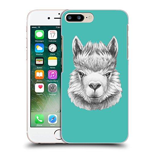 GoGoMobile Coque de Protection TPU Silicone Case pour // Q05380634 Portrait lama Turquoise // Apple iPhone 7 PLUS