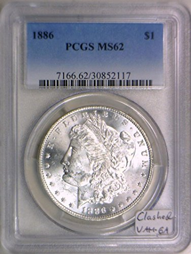 1886 No mintmark Morgan Clashed Dollar MS-62 PCGS