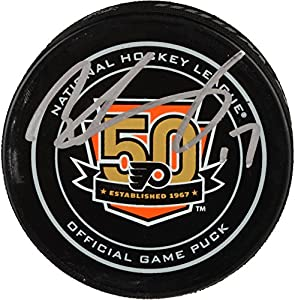 Wayne Simmonds Philadelphia Flyers Autographed 50th Anniversary Season Official Game Puck - Fanatics Authentic Certified