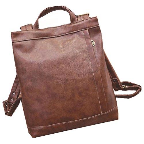 Plover Donna pelle sintetica Zaino Casuale Alunno Scuola bookbags Daypacks Borse da viaggio