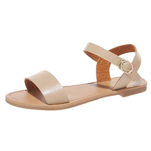 28f926a269e9a Amazon.com: Duseedik Summer Women's Roman Sandals Ladies Solid Peep ...