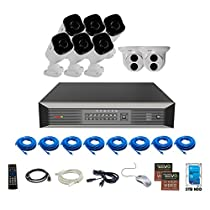 Revo America Ultra Plus Commerical Grade 16CH 4K H.265 NVR,  3 TB Surveillance Grade HDD, Remote Access, with 6x IR Bullet & 2x IR Turret Cameras, 4 Megapixel,  Indoor/Outdoor, True WDR.
