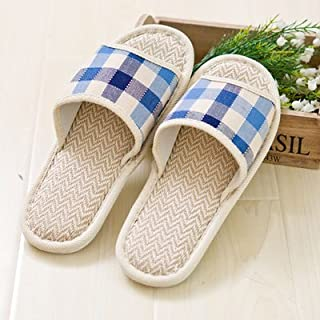 Y-Hui pantofole, uomini e donne, biancheria, Home pantofole, primavera ed estate Indoor e Outdoor Piano, amanti ciabattine,4243,blu scuro Plaid