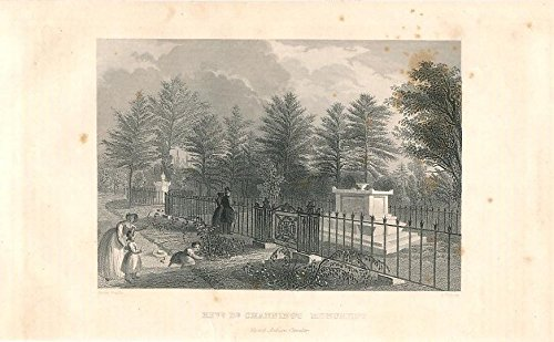 Rev. Channing's grave Mt Auburn Cemetery MA 1850 nice old antique - Auburn Ma Map