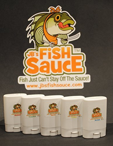 Ounce 0.5 Sauce (JB's Fish Sauce Fish Attractant Bait Additive Enhancer - FishStick .5oz Deodorant Style - 5 Pack SAVE $5 - CATCH MORE FISH! - Works On All Species - Real Crude Fish Oils)