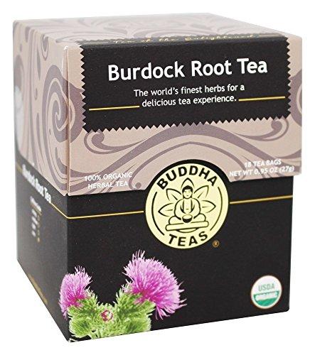 (Organic Burdock Root Tea, 18 Bleach-Free Tea Bags - Caffeine Free, Antioxidant, Antiviral, and Anti-Inflammatory, Aids Digestive System, No GMOs )