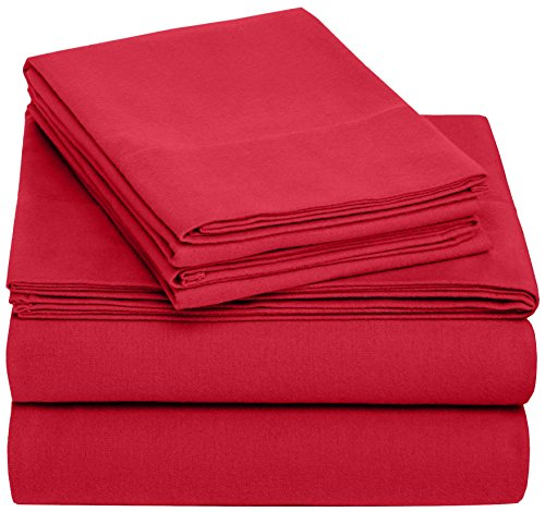 Pinzon 170 Gram Velvet Flannel Sheet Set – Cal King, Merlot (King Cal Flannel Sheets)