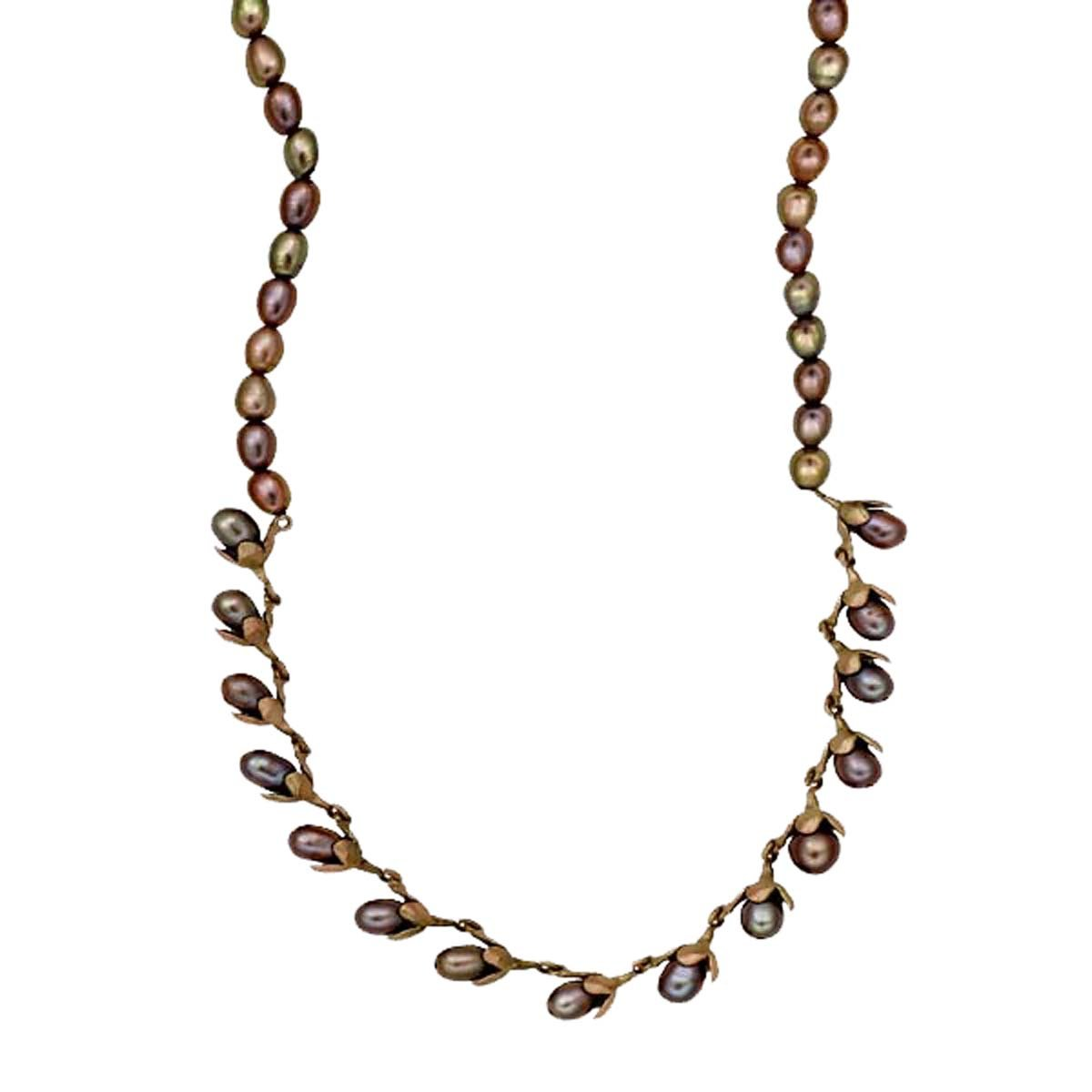 ''Cliff Maiden'' Pearl Necklace By Michael Michaud for Silver Seasons…