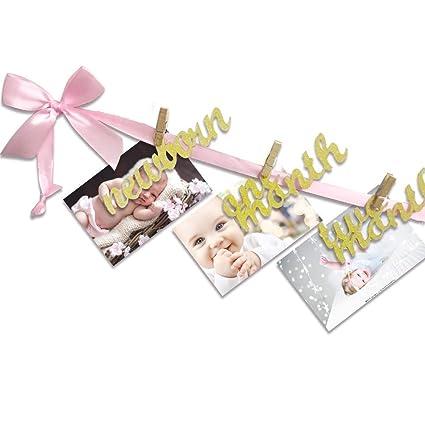 SEALEN Bebé 1er Cumpleaños Decoraciones Foto Banner para ...