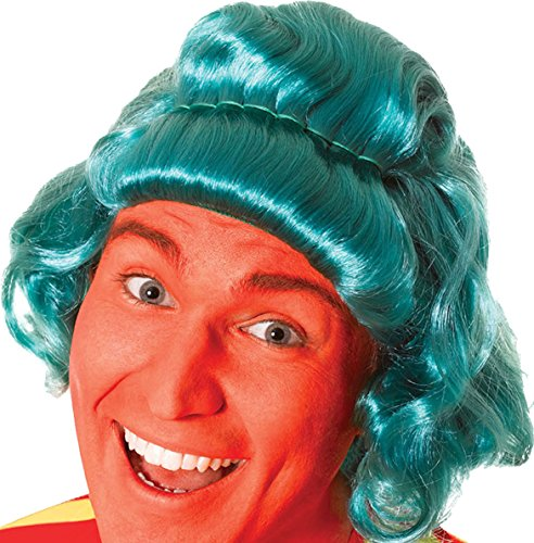Oompa Loompa Factory Worker Costume (Adults Fancy Charlie & Chocolate Factory Worker Dress Party Short Lumpa Wig)