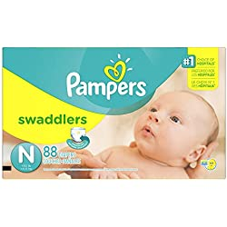 Pampers Swaddlers Newborn Diapers Size 0, 88 Count