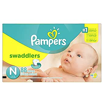 Pampers Swaddlers Disposable Baby Diapers Size N (old version)