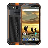 Unlocked Cell Phones Ulefone Armor 3, Rugged Smartphone IP68 Waterproof 5.7'' 4GB 64GB, Android 8 1 Phone Dual Sim 4G, 21MP 10300mAh Battery Shockproof+NFC+Compass+GPS(Orange)