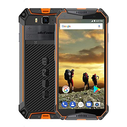 Ulefone Armor 3 Rugged Phones Unlocked, Unlocked Smartphone Rugged Waterproof 5.7'' 4GB 64GB, Android 8.1 Dual Sim Smartphon 4G AT&T, T Mobile, Verizon& Sprint,Face Unlock, GPS+GLONASS+NFC,Orang