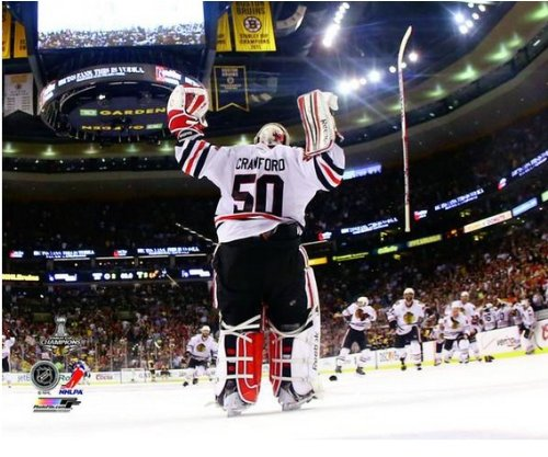 Corey Crawford Chicago Blackhawks 2013 Stanley Cup Finals Game 6 Photo 8x10