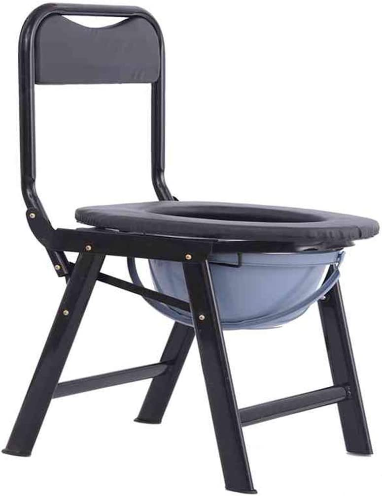 ZBYXZIGJ Bedside Commode Chair - Commode Seat, Bedside Potty Chair for Adults, Medical Handicap Toilet Seat with Bucket