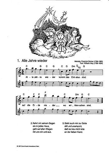 Weihnachtslieder Ausdrucken.Die Schönsten Weihnachtslieder Notenausg M Audio Cds Für