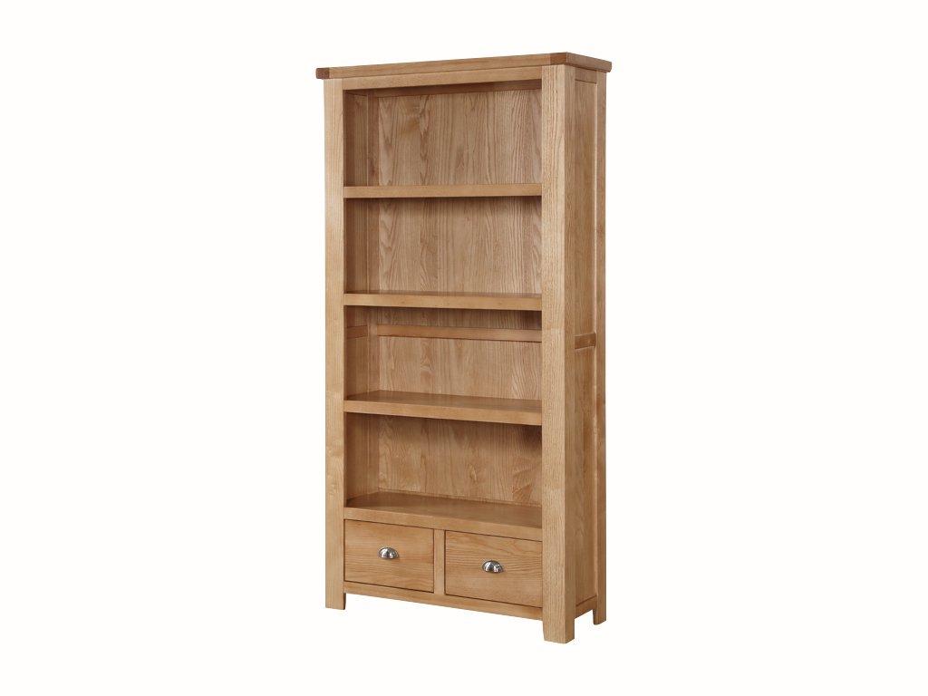 Moderne Hohe Bücherregal–massivem Eschenholzgriff Bücherregal aus massiver Esche–Finish: Esche–Wohnzimmer, Esszimmer, Home Office Möbel