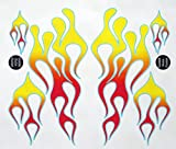 Classic Mix Flame Decal Kit red, orange, and yellow with blue...