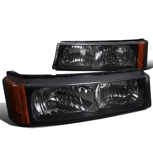 Black Bumper Signal Lights (Spec-D Tuning 2LB-SIV04JM-RS Chevy Silverado Lt Ls/ Avalanche 1500 2500 3500 Signal Bumper Lights)