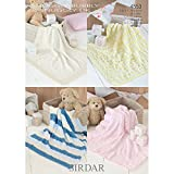 Sirdar Blankets Snuggly Bubbly and Snuggly DK Knitting Pattern 4553 by Sirdar