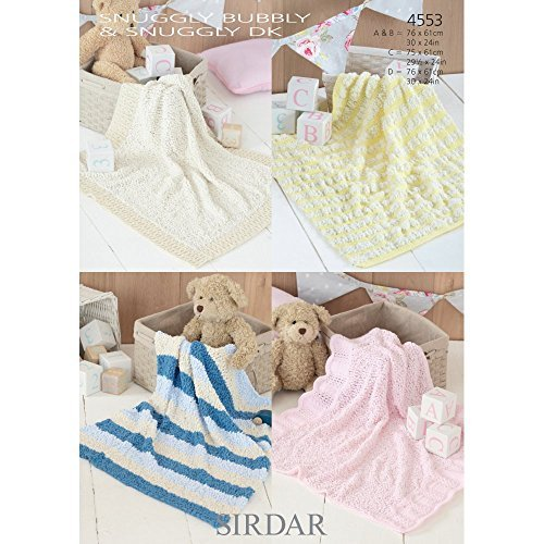 Sirdar Blankets Snuggly Bubbly and Snuggly DK Knitting Pattern 4553 by Sirdar by Sirdar
