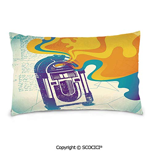 SCOCICI Cotton Double-Sided Printing Rectangle Pillows Covers,16